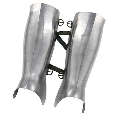 Medieval Renaissance Ancient Greek Hoplite Fully Functional 16g Greaves Armor