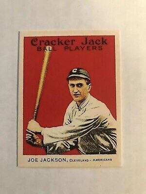 Shoeless Joe Jackson Cleveland Indians 1914 Cracker Jack