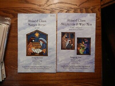 Stained Glass Manager Scene and Wiseman/Shepherd Quilt Patterns - Used/Uncut