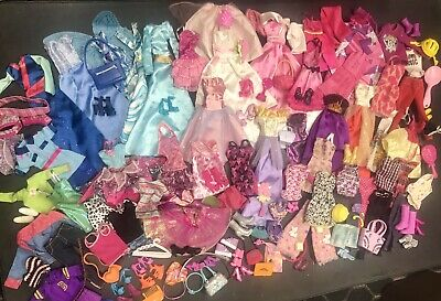 Barbie Fashion Doll Clothes & Accessory Lot - Over 120 Pieces