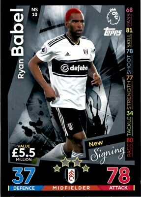 Match Attax 2018/19 EXTRA - Fulham Ryan Babel (New Signing) No. NS10