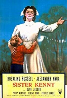 "16Mm Feature Film  -  ""Sister Kenny""  Rosalind Russell - 1946 - 116 Min  B/W"