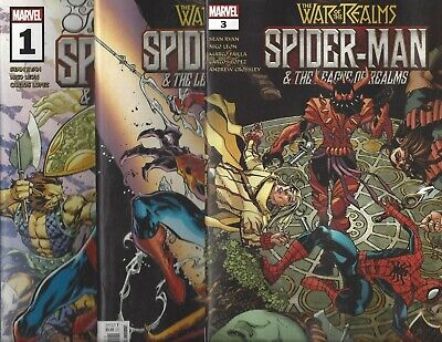 War Of The Realms: Spider-Man League Of Realms #1 2 3 Complete Marvel!