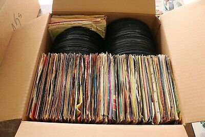 lot of 250+ 45rpm records 50s 60s 70s 80s pop rock