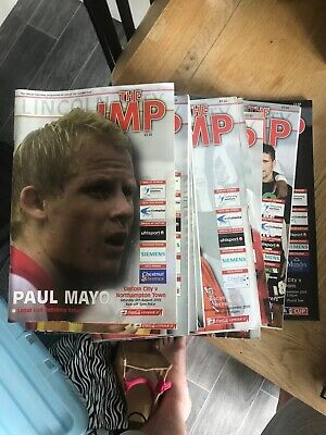 lincoln city match day programs 2005/2006 issue 1-10