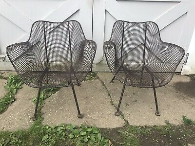 Russell Woodard Sculptura Chairs Mid-Century Set Of Two Modern 1950's