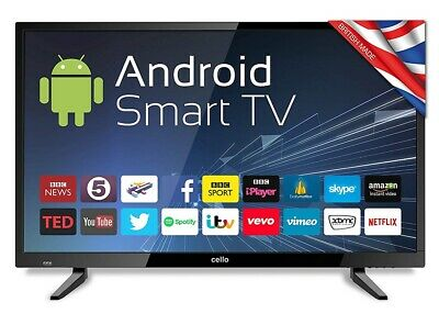Cello C32ANSMT 32 Inch HD Ready Android SMART LED TV Freeview HD USB Record