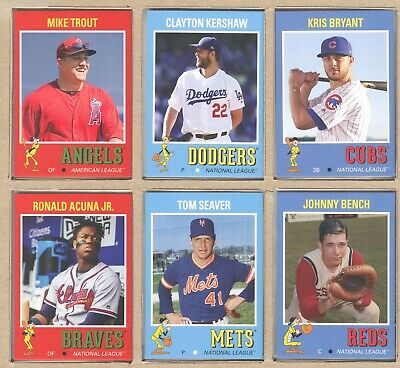 2019 Topps Throwback Thursday Set #5 1971 FB - Trout Kershaw Acuna Bryant Bench