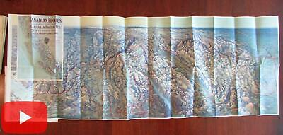 Canadian Rockies Railway Line Promotional birds-eye view map c. 1910 Seattle BC
