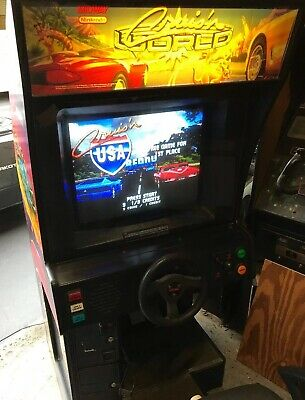 Cruisn USA Midway Arcade Sitdown Driving Game Working With New Monitor