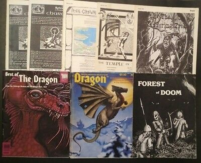 Lot of 8 DRAGON Magazine D&D RPG Role Playing Aid Modules Best I&II