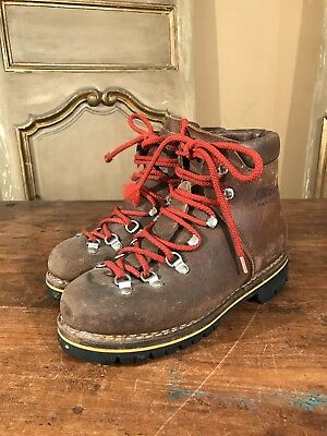 Vintage Raichle Mountaineering Hiking Climbing Boots Mens Size 6 Women's 8