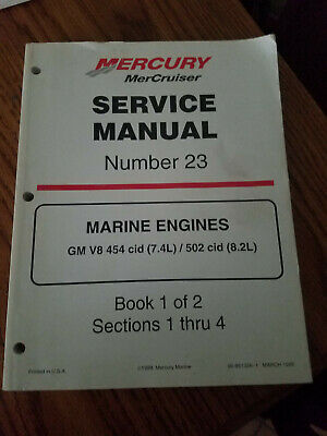 MERCURY MERCRUISER MARINE Engines GM V8 454 CID 7 4L 502 CID