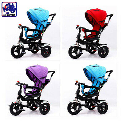 4 In 1 Kids Toddler Pram Stroller Reverse Tricycle Trike Ride-On Toy GMC0020