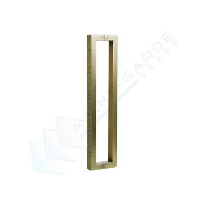 Front Door Handle Entrance Pull 600 Antique Brass External Stainless Steel Gold