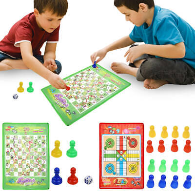 Ludo and Snakes and Ladders Chess Game Traditional Family Travel Kids FUN Toys