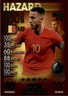 Topps Match Attax 101 - Eden Hazard Belgium (100 Club) No. 185