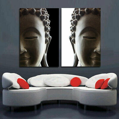 Wall picture art canvas painting home decor 2 penel buddha art canvas