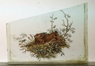 Stained Glass Hare / Rabbit -  Kiln fired transfer fragment pane! Re-listed