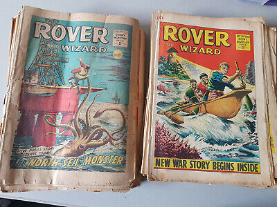 ROVER & WIZARD COMIC 52 issues from 1967 - FULL YEAR!!