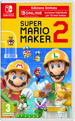 Super Mario Maker 2 Limited Edition Nintendo Switch Videogioco Italiano Nuovo