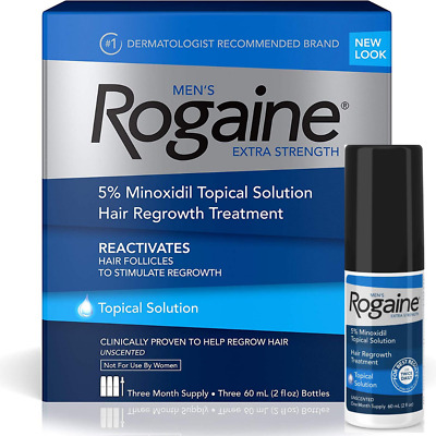 Minoxidil 5% Rogaine Regaine 1-12 Month Extra Strength Hair Loss Solution 02/22