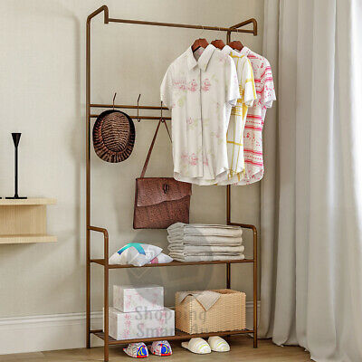 Clothes Cloth Coat Rack Hanger Garment Portable Shoe Rack Hat Hook Organiser