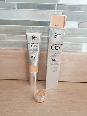 IT Cosmetics CC+ Colour Correcting Full Coverage Cream 5 ml Sample in Medium