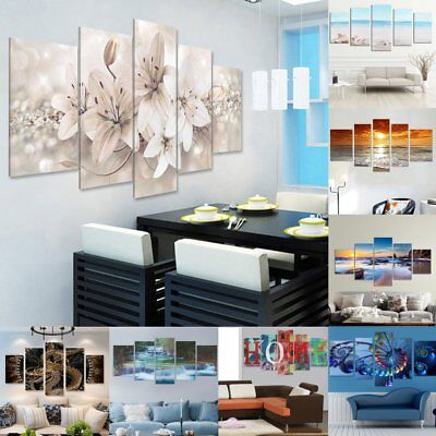 5Pcs Canvas Print Painting Wall Picture Modern Home Art Decor