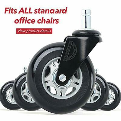 """Office Chair Wheels Set Of 5 Caster Universal Fit Kitchen """" Dining"""