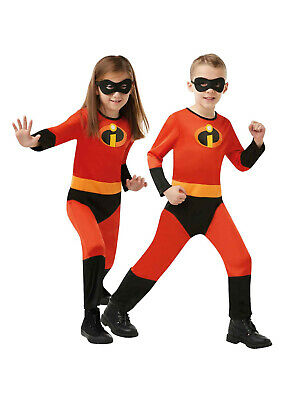 The Incredibles Kids Costume with free Mask Boys Girls Cosplay - Size 2-12 years