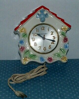 Vintage Working Mastercrafters Birdhouse Wall Clock - Sessions Movement - Used