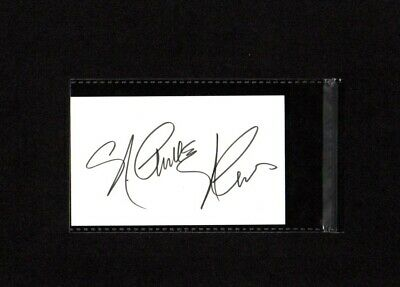 Nichelle Nichols - Uhura - Hand Signed Autograph Index Card 3x5 - Star Trek