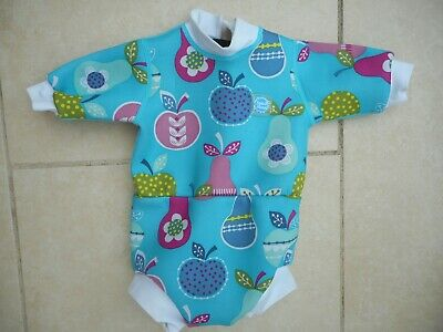 Splash About Baby & Toddler Happy Nappy Wetsuit Tutty Fruity *MEDUIM  3-8 Mths