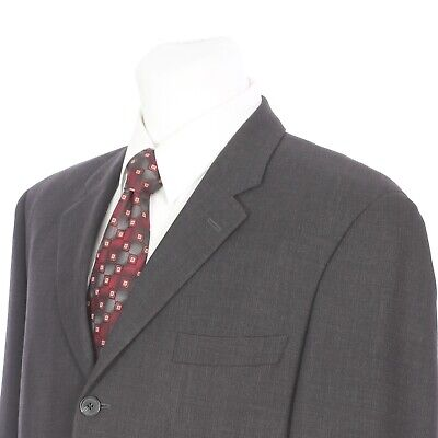Jack Victor Prossimo Three Button Solid Gray Wool Sport Coat 42 Regular 42R