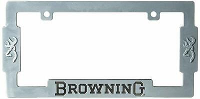 Browning License Plate Frame Zinc Alloy With Aged Nickel Finish