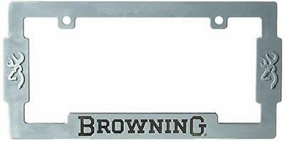 Lot of 2- Browning License Plate Frame Zinc Alloy With Aged Nickel Finish