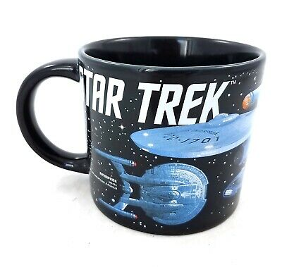 Starships of Star Trek 50th Anniversary Collector Mug 12 oz USS Enterprise 2016