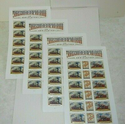 USA FOREVER Transcontinental Railroad Pain Sheet - 18, MNH $9.90 FACE VALUE #119