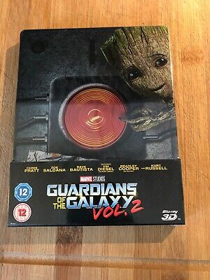 GUARDIANS OF THE GALAXY VOL.2 ~ 3D ~ Includes 2D Blu-Ray MARVEL STEELBOOK * NEW