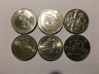 6 Polish coins - 1981-1990 -- very good condition