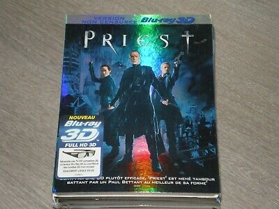 Blu-ray Priest 3D + 2D Paul Bettany FOURREAU CARTONNE