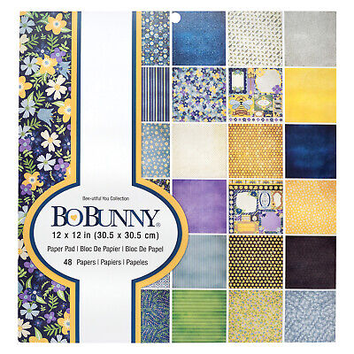 """American Crafts 12"""" x 12"""" BoBunny Bee-utiful You Patterned Paper Pad - 48 Sheets"""