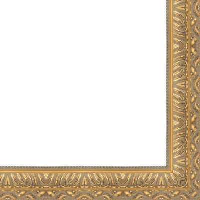 "Picture Frame Moulding (Wood) - Ornate Gold Finish - 4.5"" width - 11/16"" rabbet"