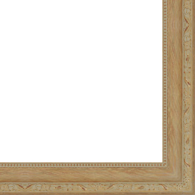 "Picture Frame Moulding (Wood) - Ornate Antique Gold Finish - 2"" width - 5/8"" rab"