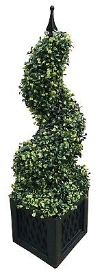 Boxwood Spiral Tower Plant Tree Artificial Realistic Potted Indoor Outdoor 80cm