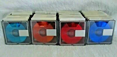 40 Sony MD 74/80 Min MiniDisc Shock Absorbing Mechanism USED with Cases
