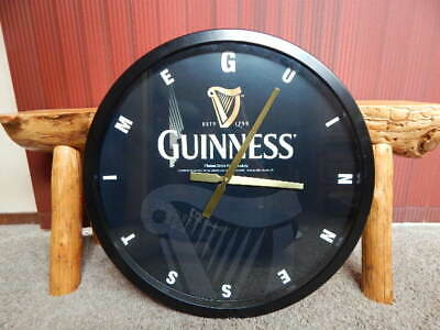 """Official 2013 Guinness Beer Advertising Promo Metal Wall Clock 23.5"""" Round RARE!"""