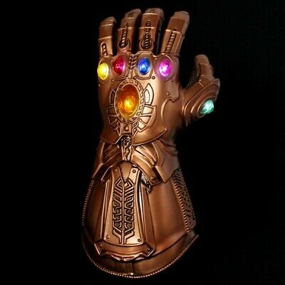 Avengers3 Infinity War Infinity Gauntlet LED Thanos Gloves With LED Cosplay Prop
