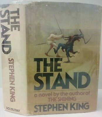 1978 Stephen King THE STAND First Edition Hardcover Book T39 PRINT Doubleday 1ST